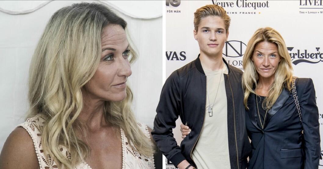 Kristin Kaspersens hyllning till sonen Filip Lamprecht