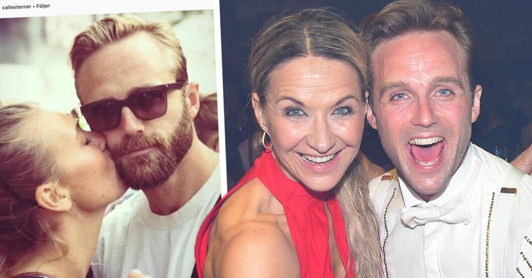Kristin Kaspersens hälsning efter Calle Sterners kärleksbild