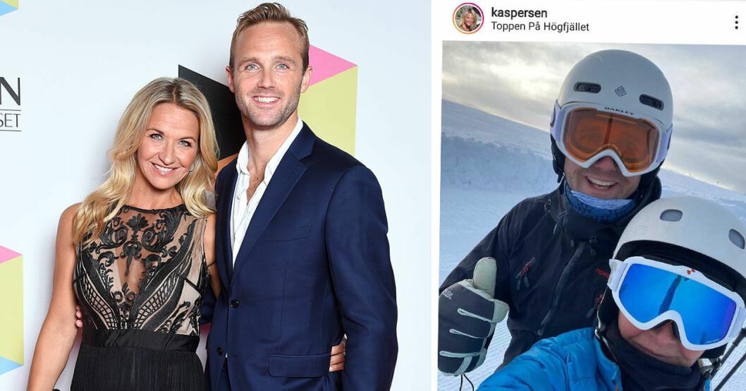 Kristin Kaspersen och Calle Sterner gör sig redo för att åka Vasaloppet tillsammans.