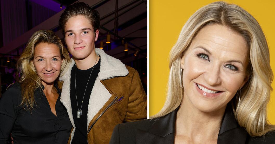 Kristin Kaspersen med sonen Filip