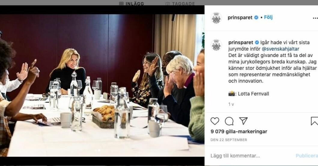 Kristin Kaspersen på möte inför Svenska hjältar-galan.