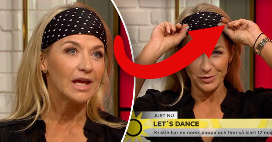 Kristin Kaspersens skada i Let's dance