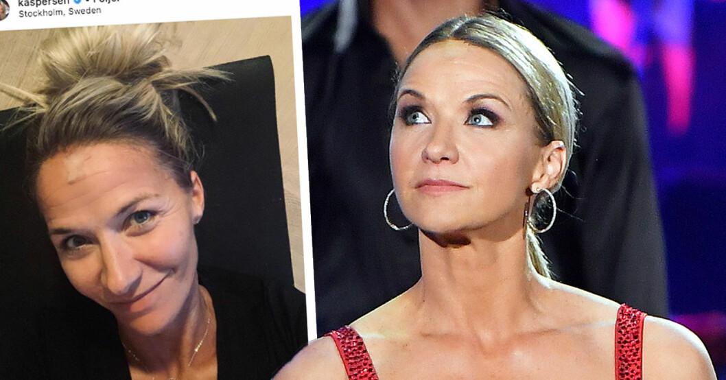 Kristin Kaspersens hälsobesked efter skadan i Let's dance