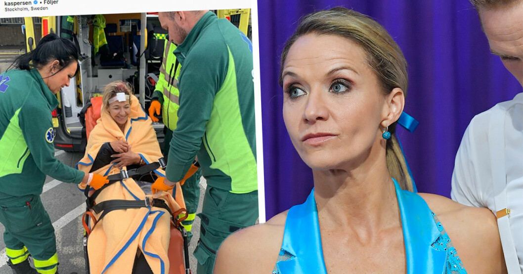 Kristin kaspersen skadad under Let's dance-repet – akut till sjukhus