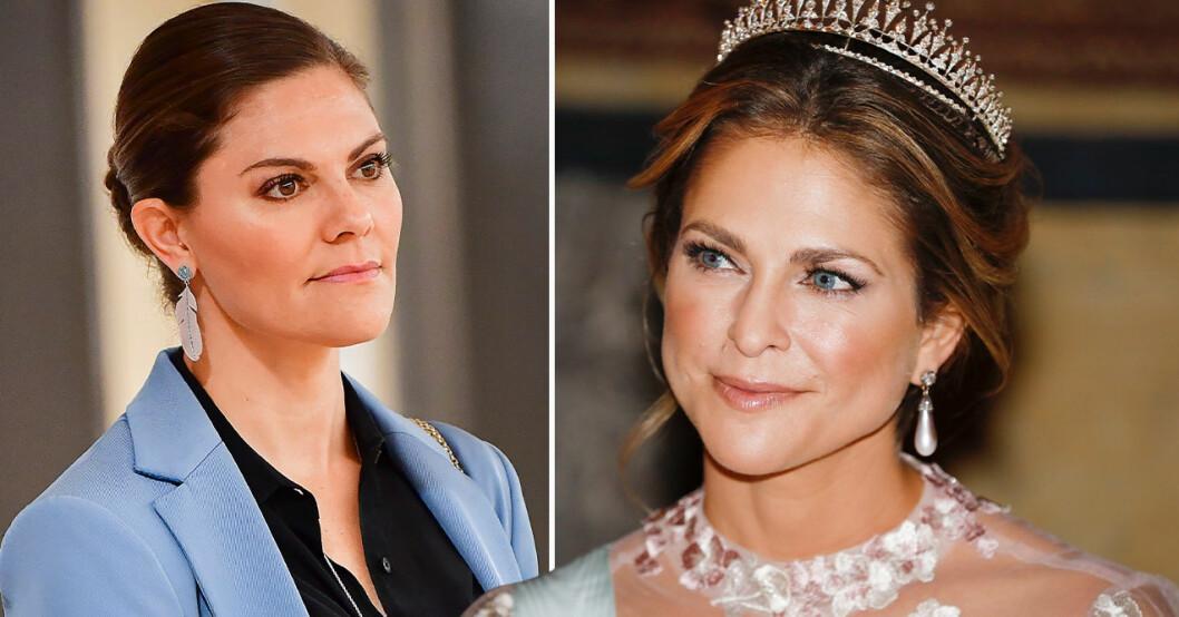 Kronprinsessan Victoria och prinsessan Madeleine