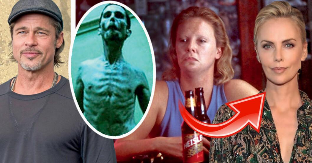 Brad Pitt, Christian Bale och Charlize Theron har alla pendlat i vikt.