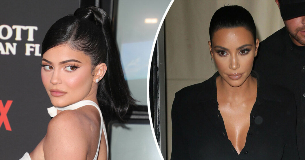 Kylie Jenner och Kim Kardashian