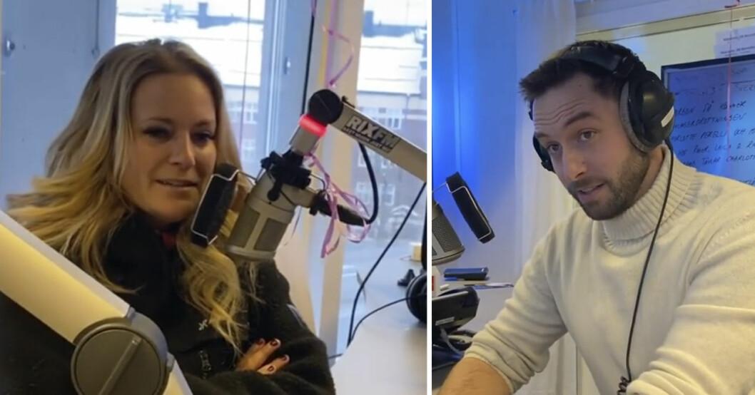 Laila Bagge och Måns Zelmerlöw