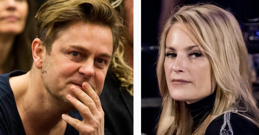 Niclas Wahlgren och Laila Bagge