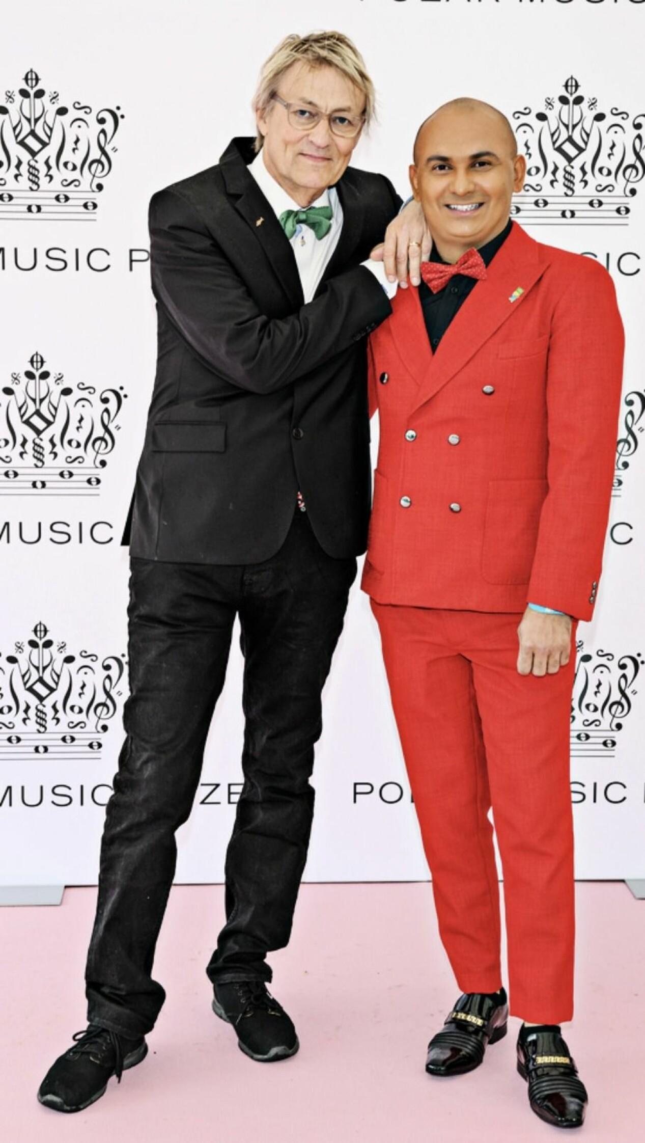 Lars Lerin och Junior på röda mattan