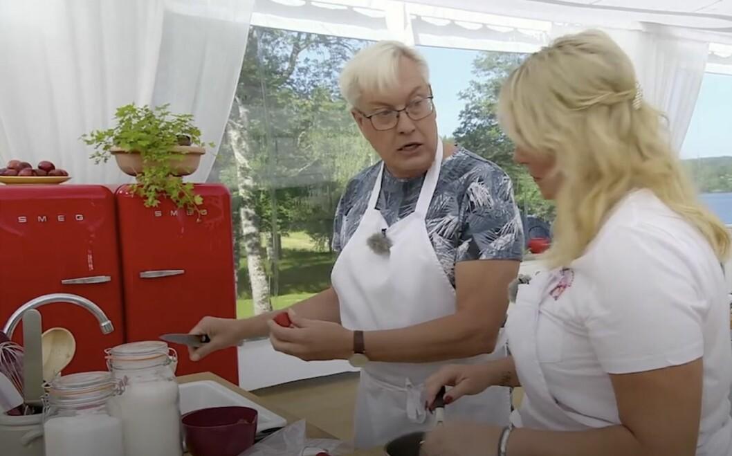 Lars-Åke Wilhelmsson och Helena Hysén
