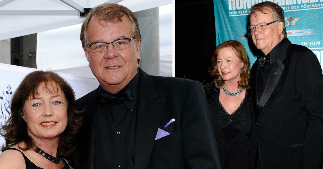 Lasse Berghagen och hustrun Eva