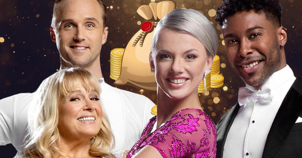 Calle Sterner, Sussie Eriksson, Linn Hegdal och John Lundvik i Let's dance 2020.
