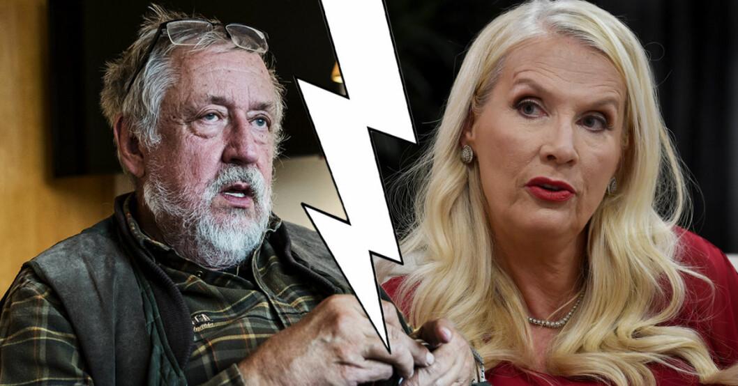 Leif GW Persson har blivit polisanmäld för förtal av Hollywoodfrun Gunilla Persson. Nu svarar han på anklagelserna.