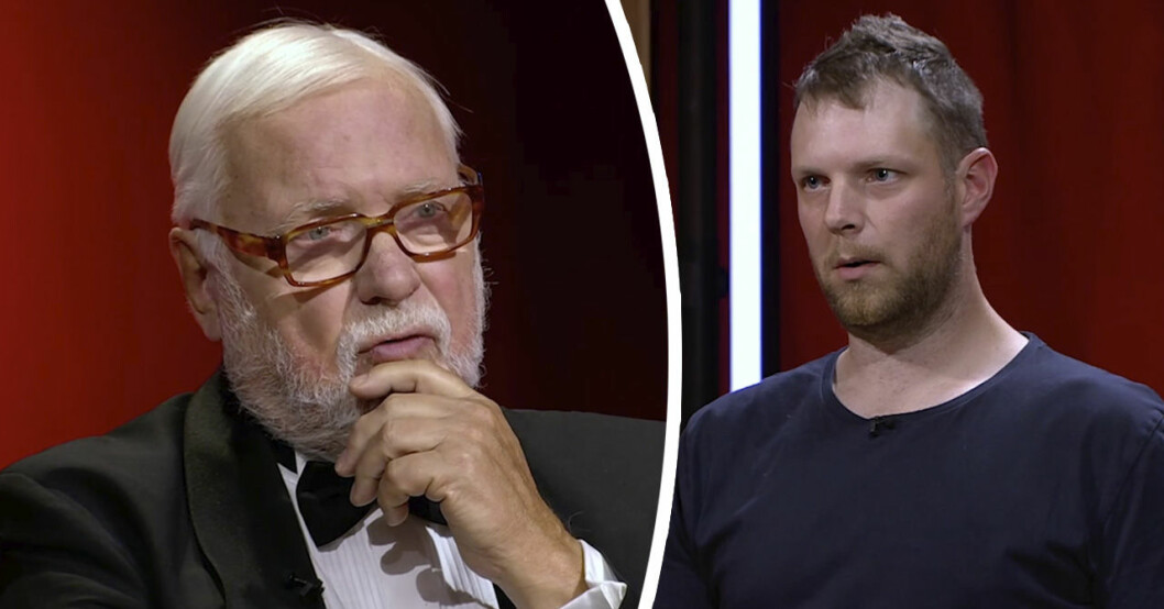 Leif Mannerström och Jonas Johansson i Sveriges mästerkock 2020.