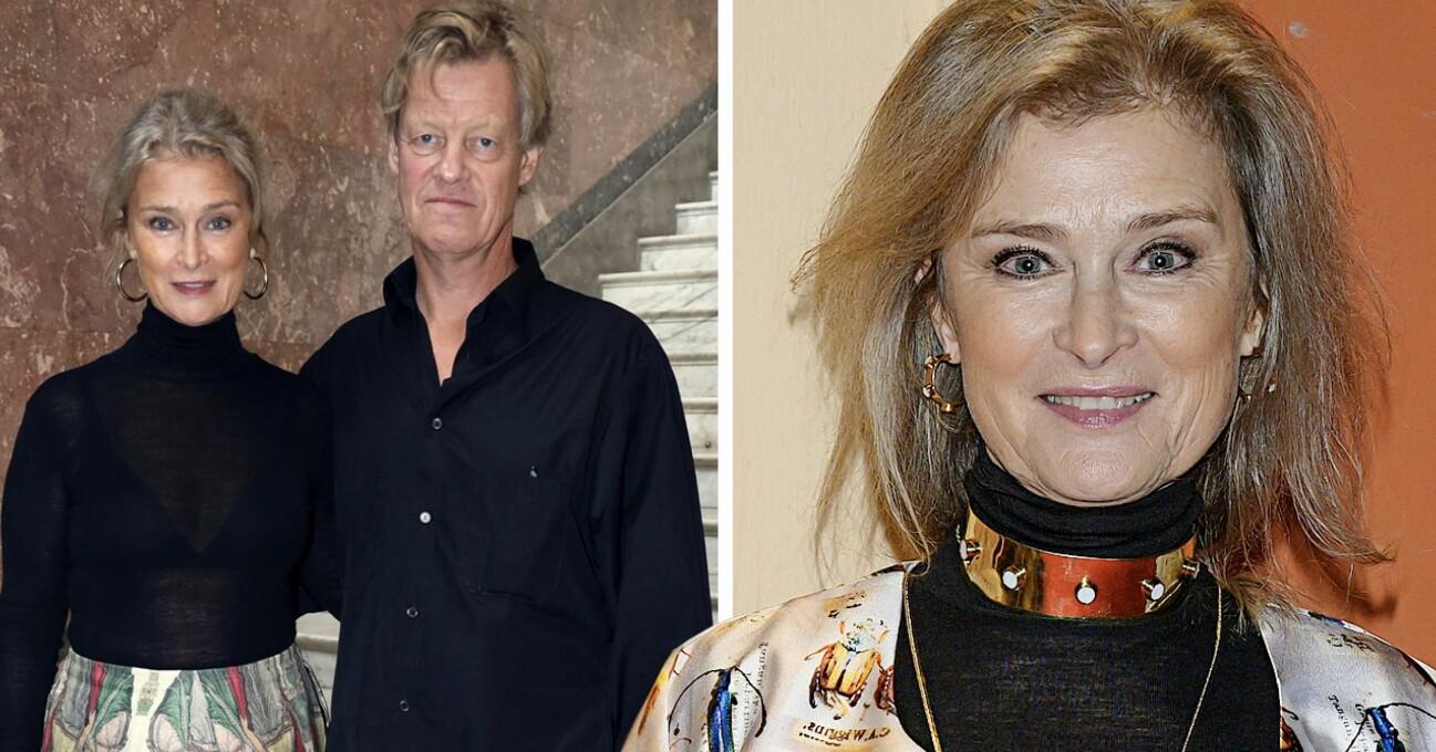 Lena Endre och maken Martin Wickström