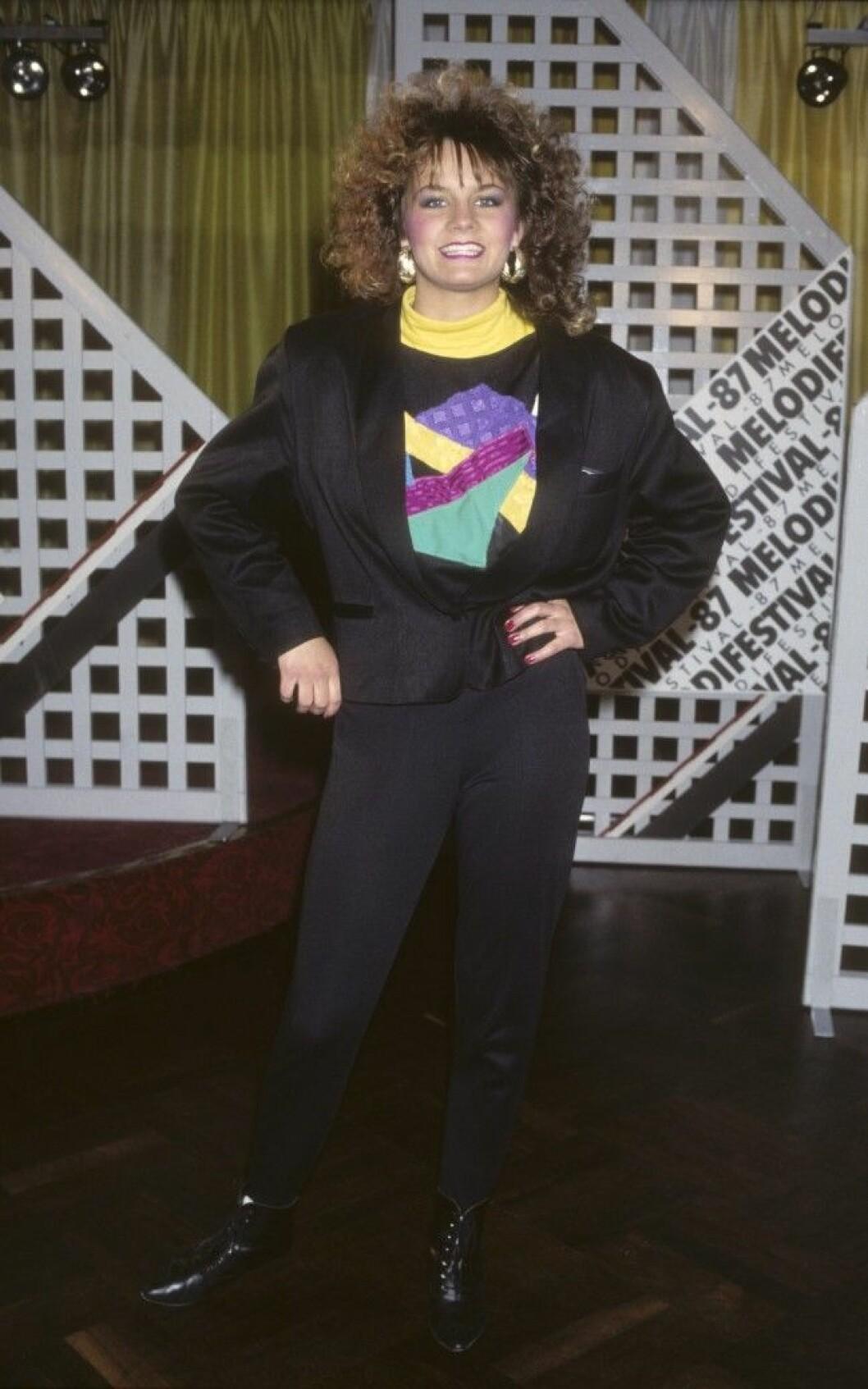 LENA PHILIPSSON artist vid Melodifestivalen 1987 Dia 22117