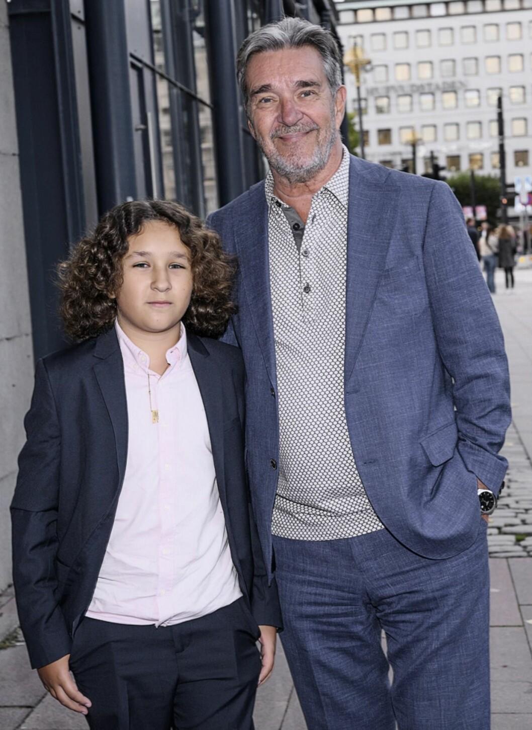 Kjell Bergqvist och sonen Leo