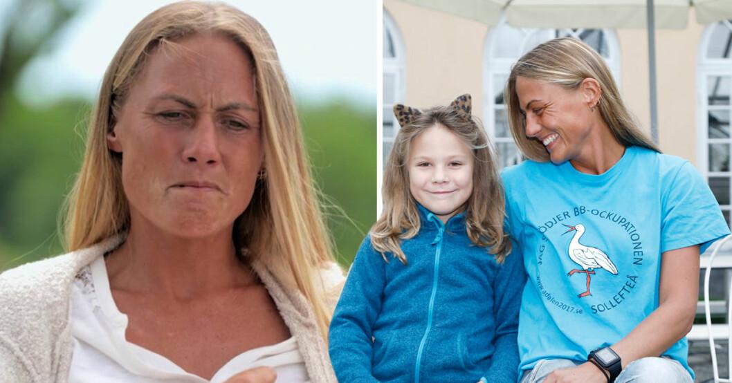 Leonora Vilhelmsson berättar nu i sin blogg att det brann på gården i Jockarp och att hennes dotter Mollie fick fly springandes från huset.
