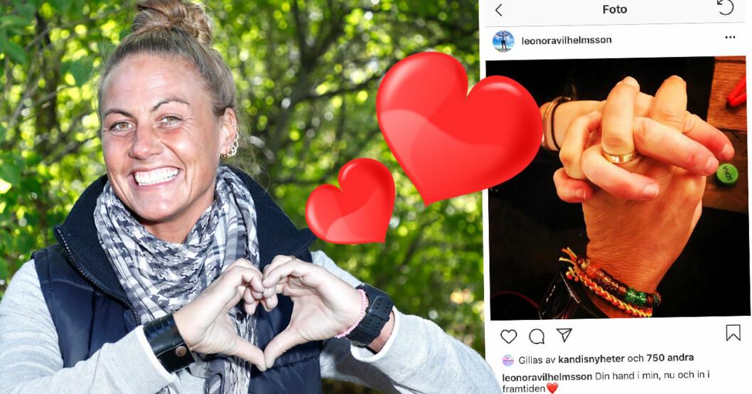 Leonora Vilhelmsson från Bonde söker fru avslöjar för Hänt att hon inte är singel längre och på sin Instagram visar hon upp sin nya kärlek.