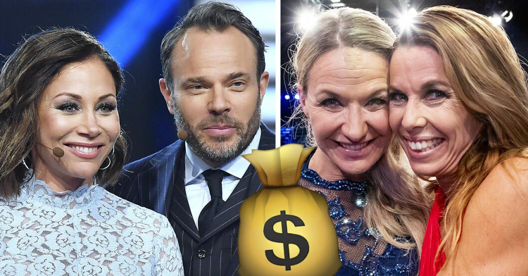 Tilde de Paula Eby, David Hellenius, Kristin Kaspersen, Magdalena Forsberg i Let's dance 2019