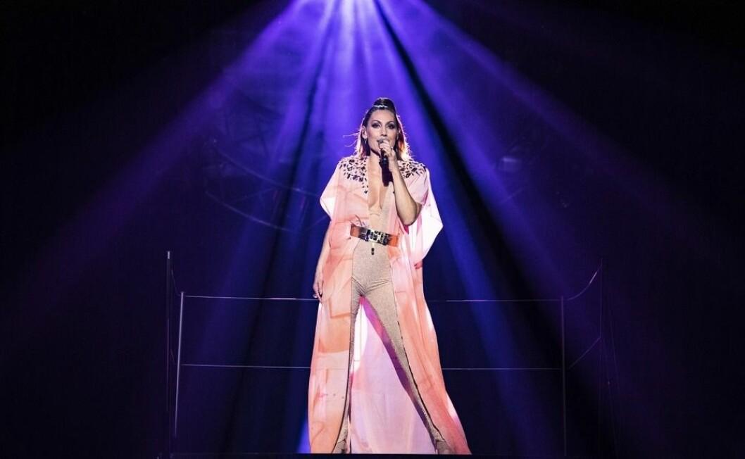 Lina Hedlund framför Victorious i Melodifestivalen 2019