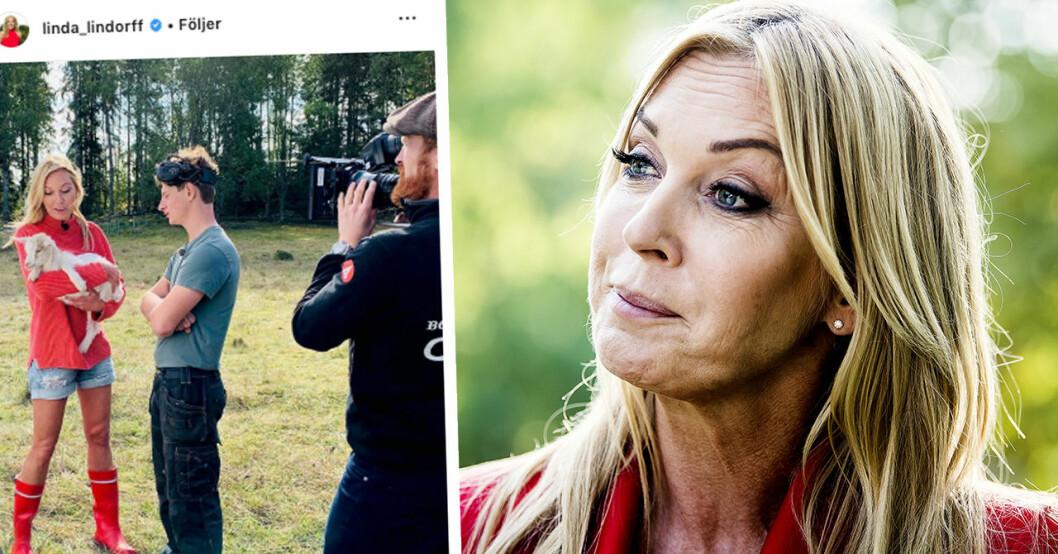 """Linda Lindorffs sorg efter avskedet i Bonde söker fru: """"Känslosamt"""""""
