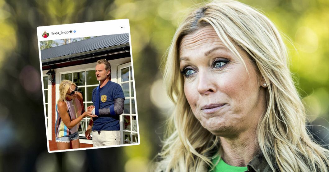 Linda Lindorffs ord efter maken Jacobs skada – tvingades operera.
