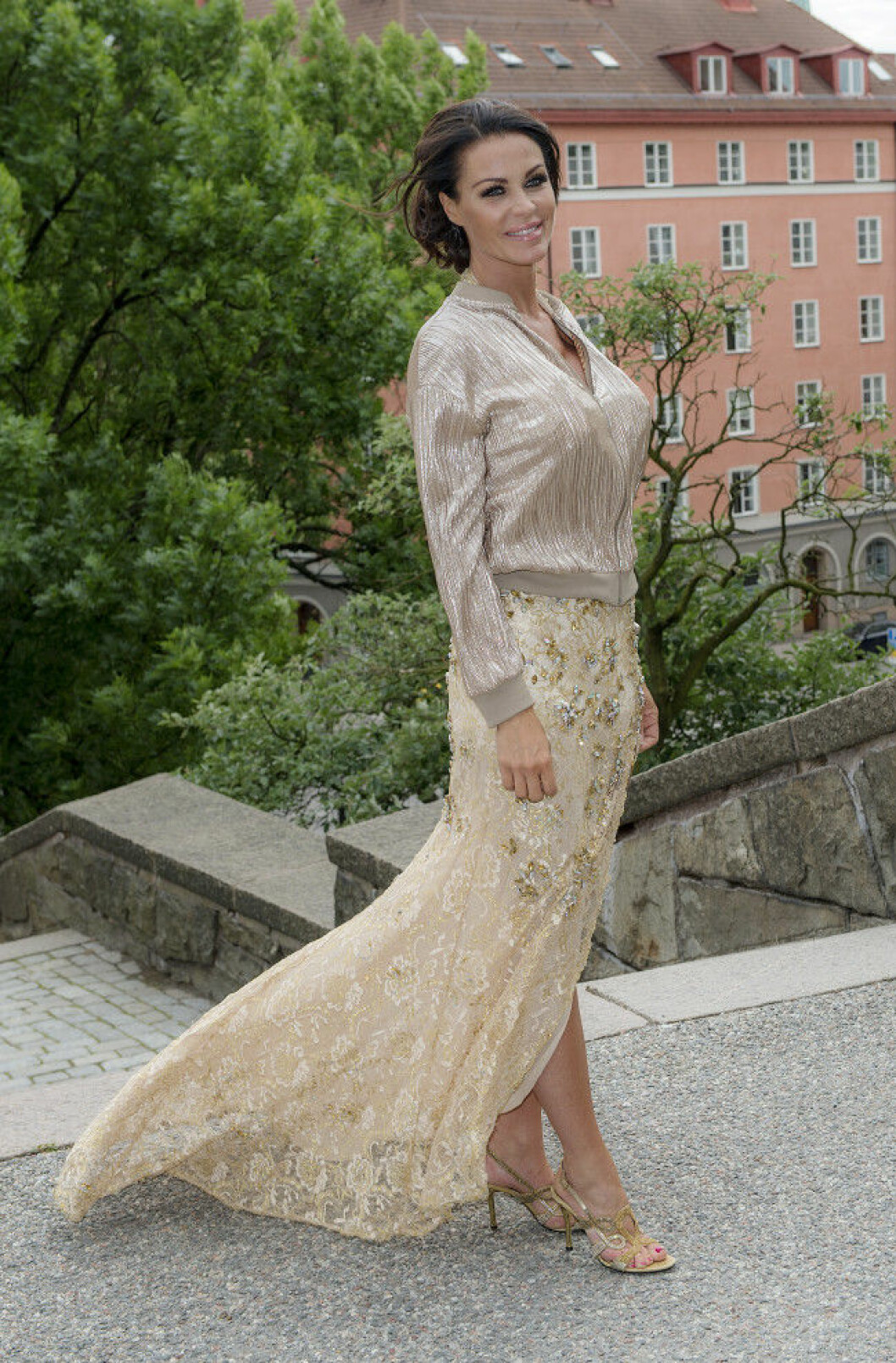 Linda Thelenius Bobby Oduncus och Jimi Bennets bröllop på Engelbrektskyrkan, Stockholm 16-07-02 Foto ©Eero Hannukainen EEROBILD AB IBL *** Local Caption *** 06586445