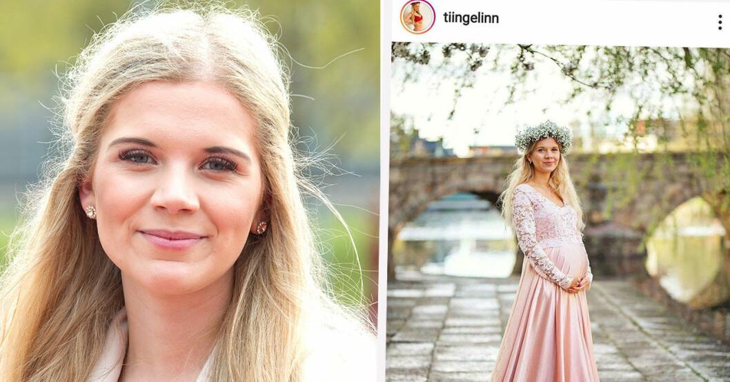 Linn Anderssons gravidbild för flöjlarna att häpna.
