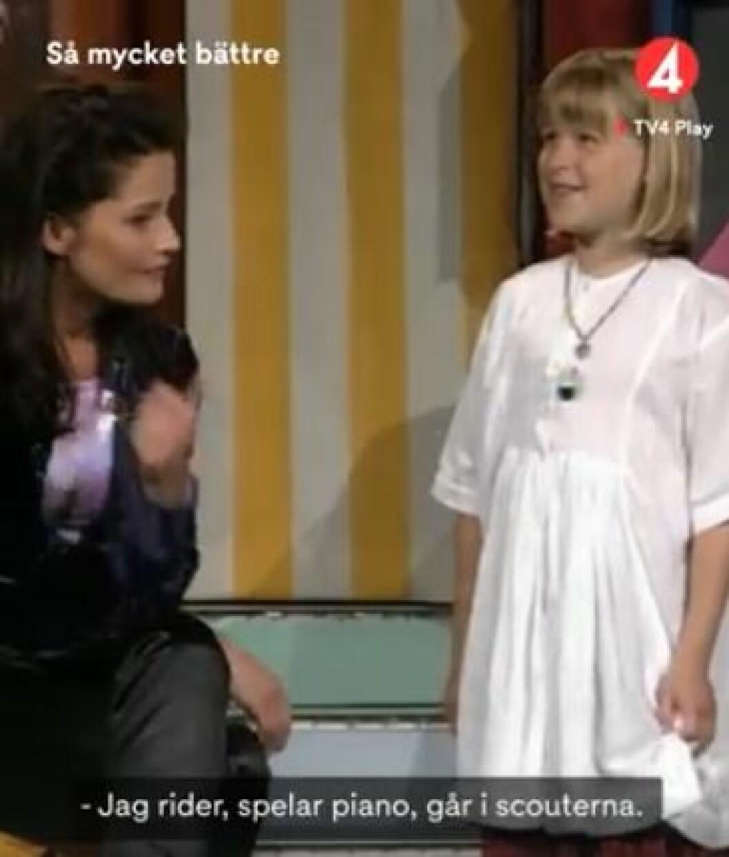 Linnea Henriksson redo att gestalta en kändis i Småstjärnorna.