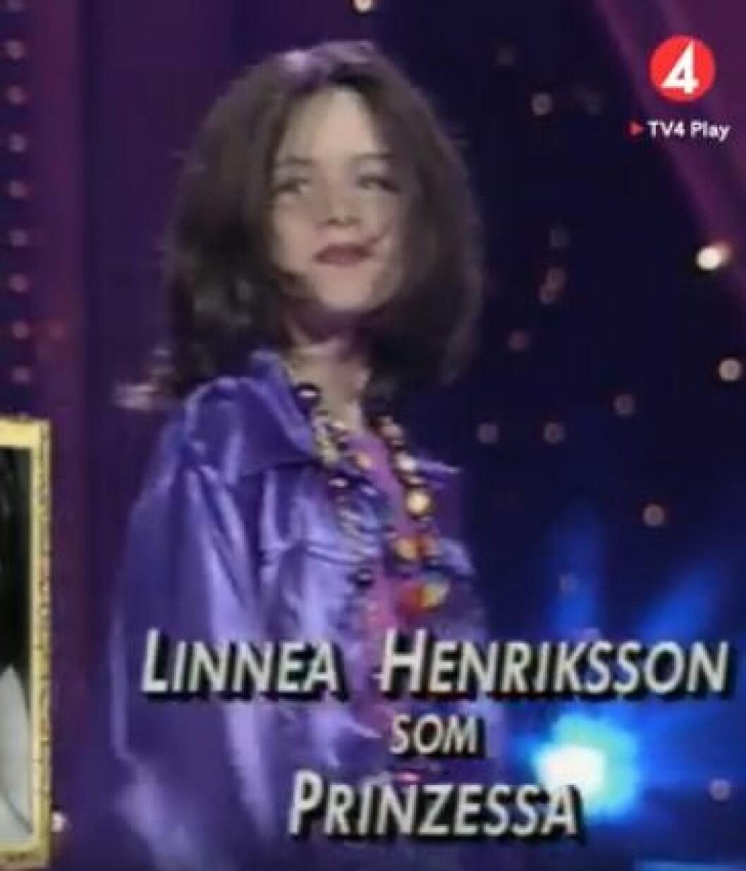 Linnea Henriksson som den spanska artisten Prinzessa i Småstjärnorna.