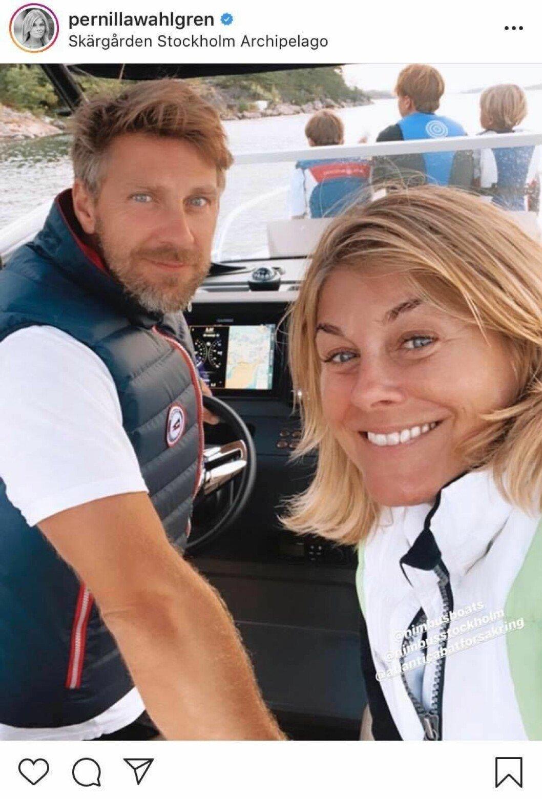 Linus Wahlgren och Pernilla Wahlgren