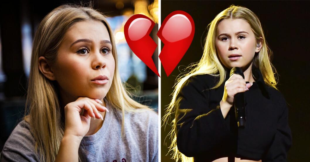 Lisa Ajax är ledsen i Melodifestivalen