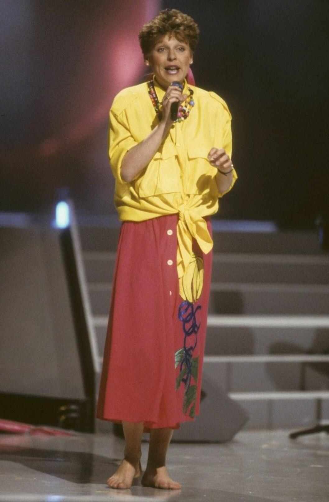 LOTTA ENGBERG artist i Melodifestivalen 1987 i Bryssel Belgien Dia 21291