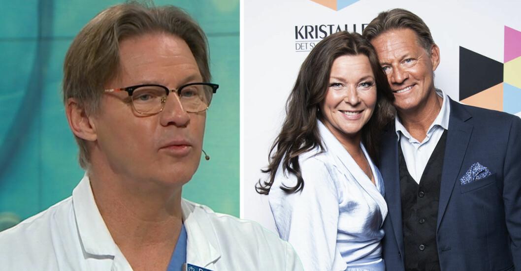 Lotta Engberg och Soldoktorn Mikael Sandström.