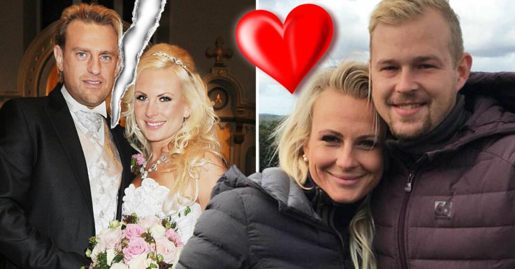 Louise Löfgren med ex-maken Pär-Ola Nyström och nya pojkvännen Sebastian Benje.
