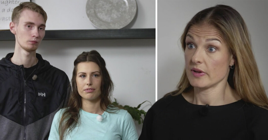Lyxfällan-paret Bea och Robin samt programledare Magdalena