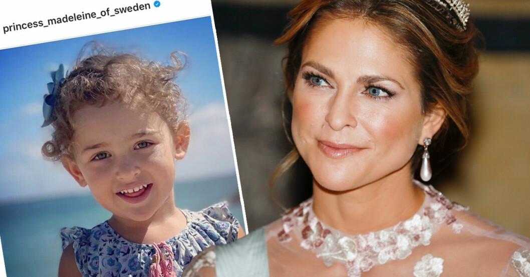 Prinsessan Madeleine och dottern Adrienne