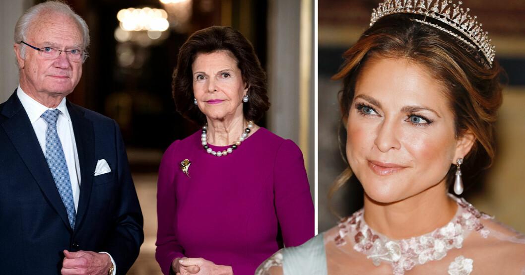 Kung Carl Gustaf, drottning Silvia, prinsessan Madeleine