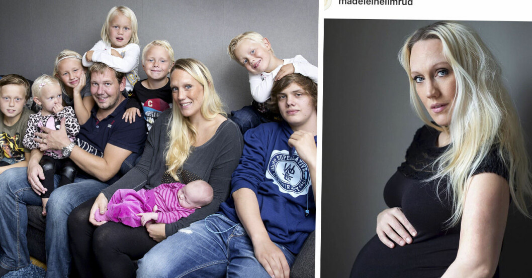 Familjen annorlunda-profilen Madeleine Ilmruds oro att föda sitt elfte barn för tidigt.