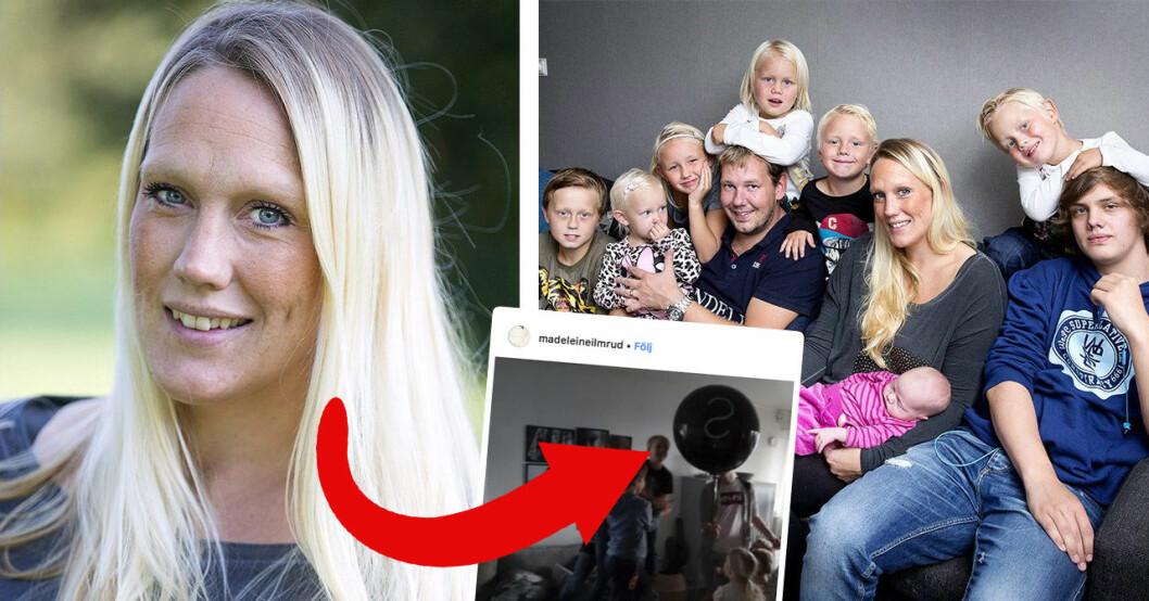Familjen Annorlunda-profilen Madeleine Ilmrud avslöjar könet på sitt elfte barn.