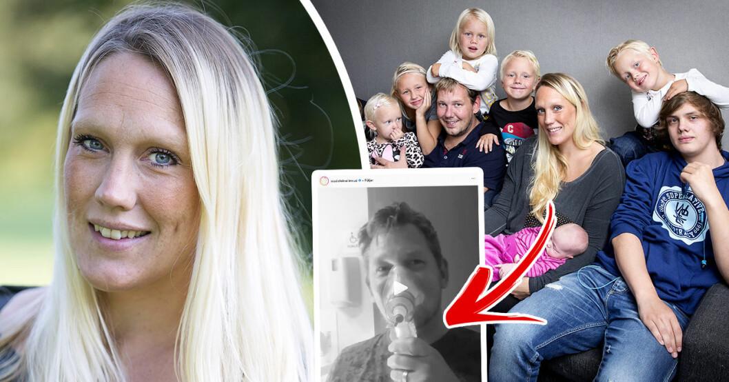 Madeleine Ilmrud hyllas för videon från förlossningen med elfte barnet