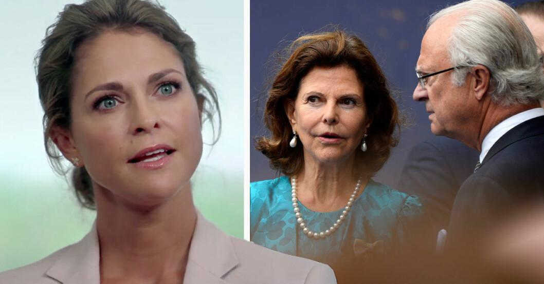 Prinsessan Madeleine, drottning Silvia och kung Carl Gustaf
