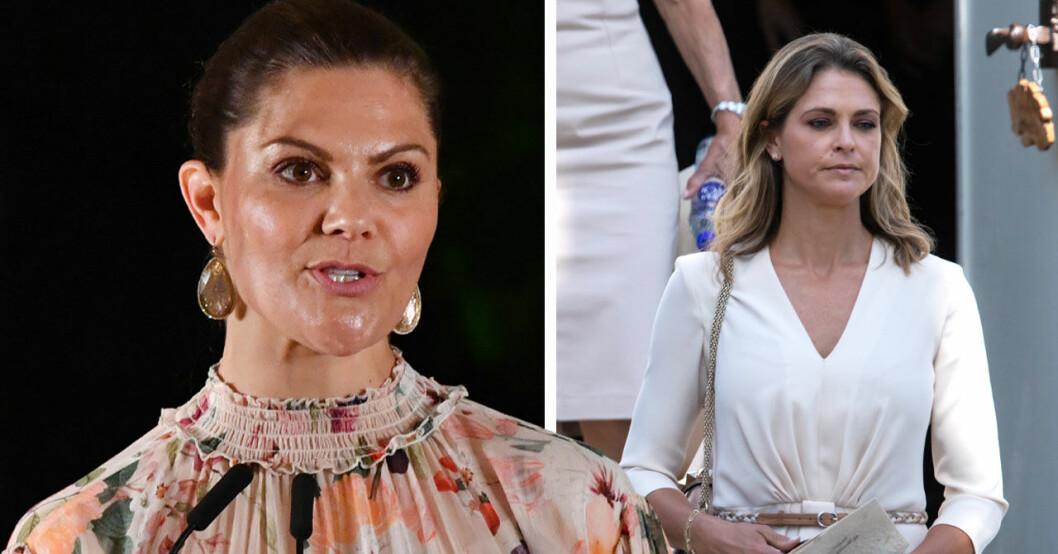 Kronprinsessan Victorias stöd till prinsessan Madeleine