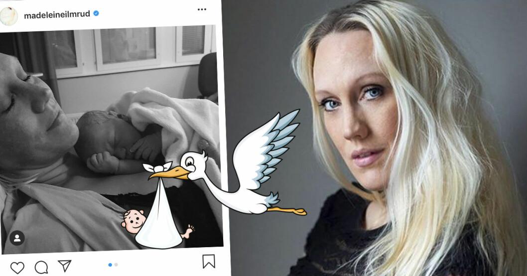 TV4-mamman Madeleine Ilmrud har fått sitt elfte barn – berättar om hastiga förlossningen