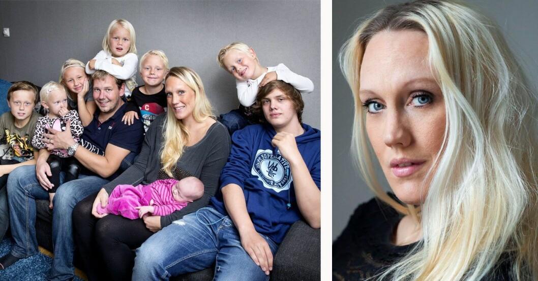 11-barnsmamman Madeleine Ilmrud berättar om oron efter yngsta dotterns födsel.