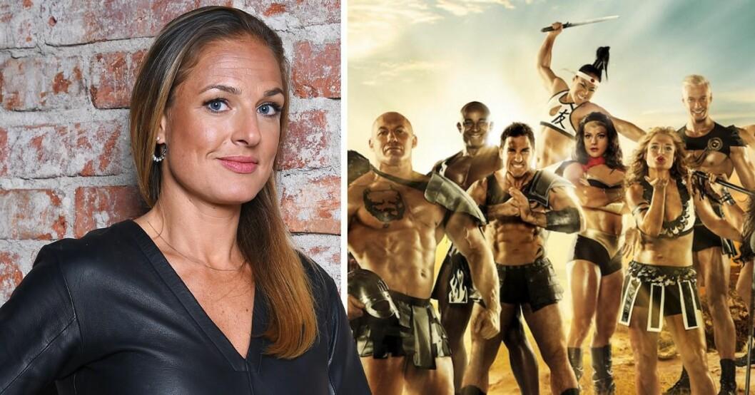 Magdalena Kowalczyk och en bild på gladiatorerna