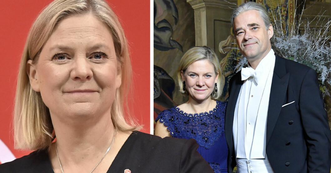 Magdalena Andersson och Richard Fribergs barn Björn och Saga
