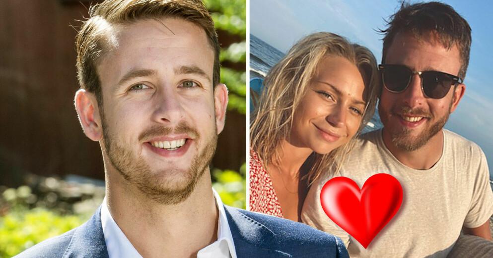 Gift vid första ögonkastet-Magnus Nilsson och flickvännen Cecilia Hasselgren.